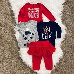 3-6M First Impression Holiday Outfit